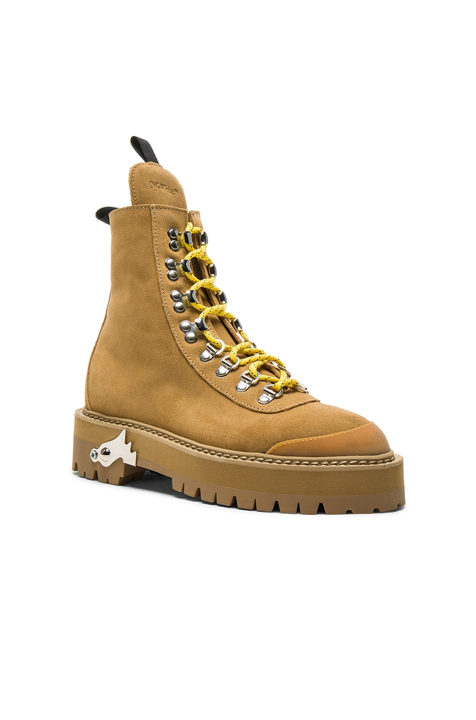 Image 2 of OFF-WHITE Suede Hiking Mountain Boots in Light Brown