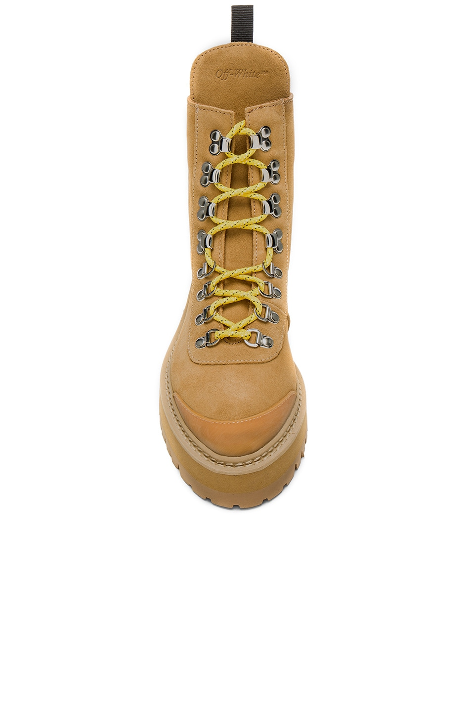 Image 4 of OFF-WHITE Suede Hiking Mountain Boots in Light Brown