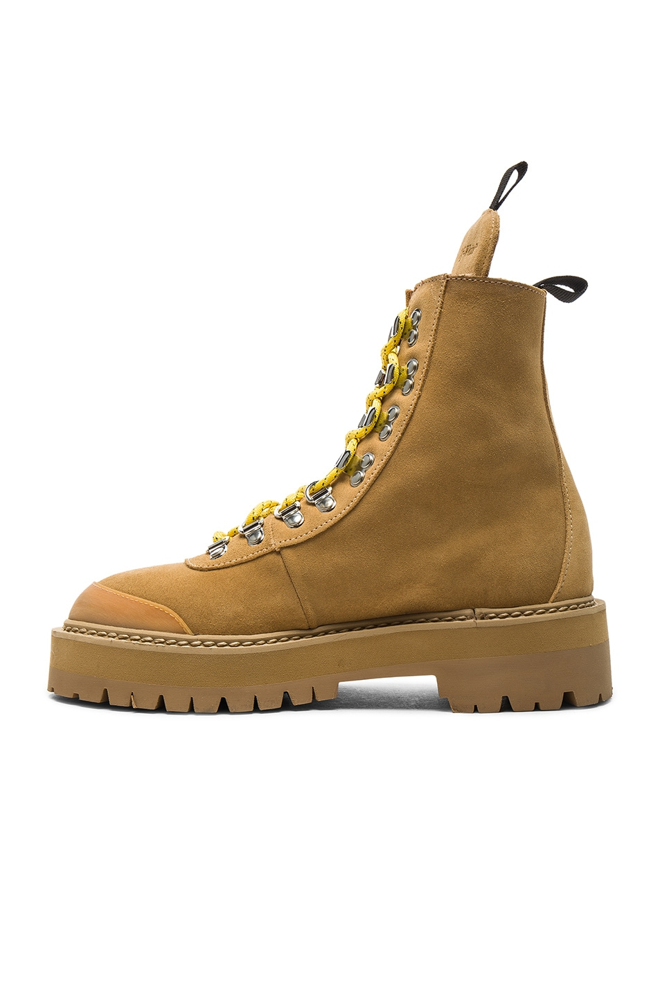 Image 5 of OFF-WHITE Suede Hiking Mountain Boots in Light Brown