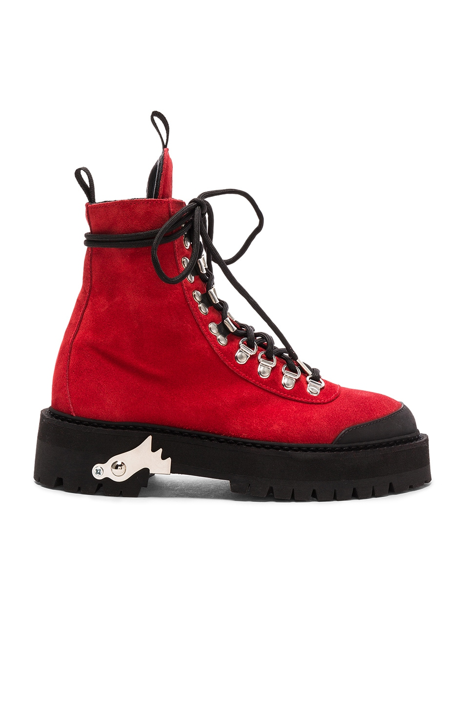 Image 1 of OFF-WHITE for FWRD Suede Hiking Boots in Red