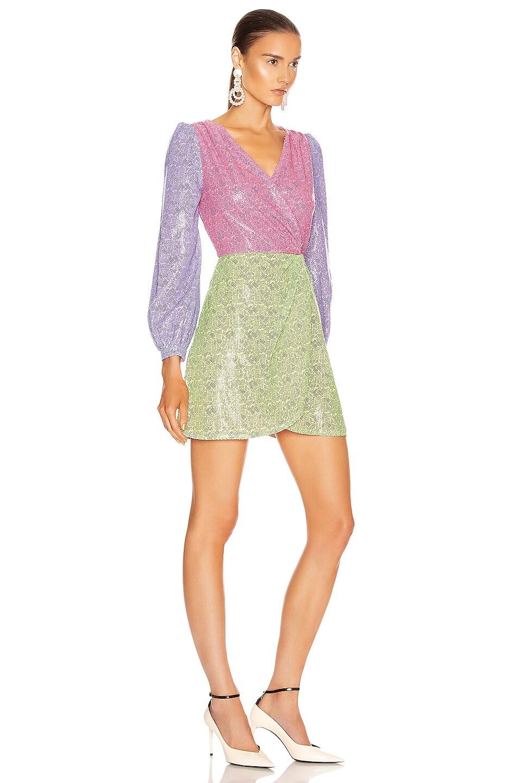 Image 2 of Olivia Rubin Meg Dress in Dash Print Mix