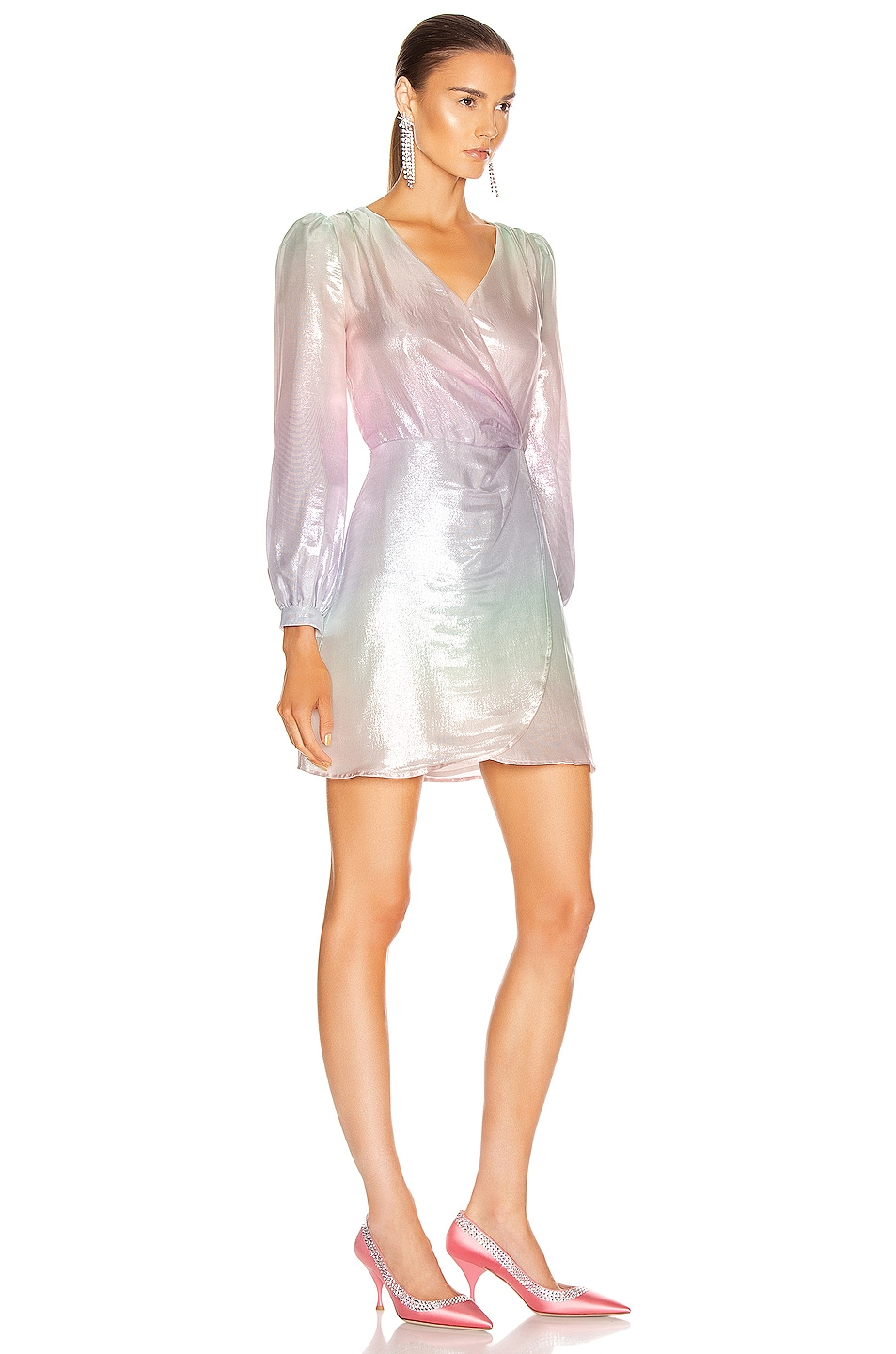 Image 2 of Olivia Rubin Meg Dress in Pastel Ombre Metallic