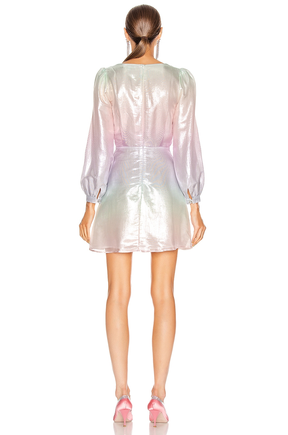 Image 3 of Olivia Rubin Meg Dress in Pastel Ombre Metallic