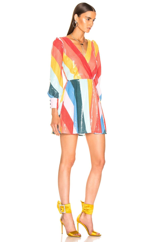 Image 2 of Olivia Rubin Kylie Dress in Rainbow Bright