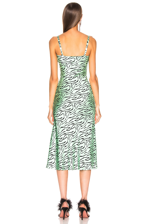 Image 4 of Olivia Rubin Lia Slip Dress in Mint Zebra