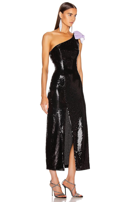 Image 2 of Olivia Rubin Violet Dress in Black