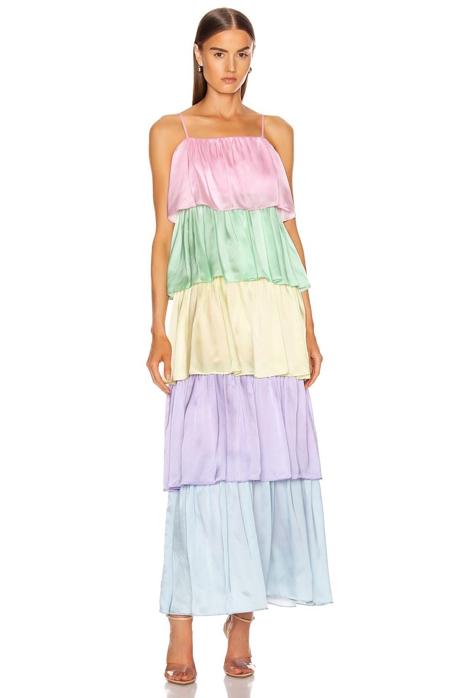 Image 1 of Olivia Rubin Cici Dress in Neapolitan Colorblock