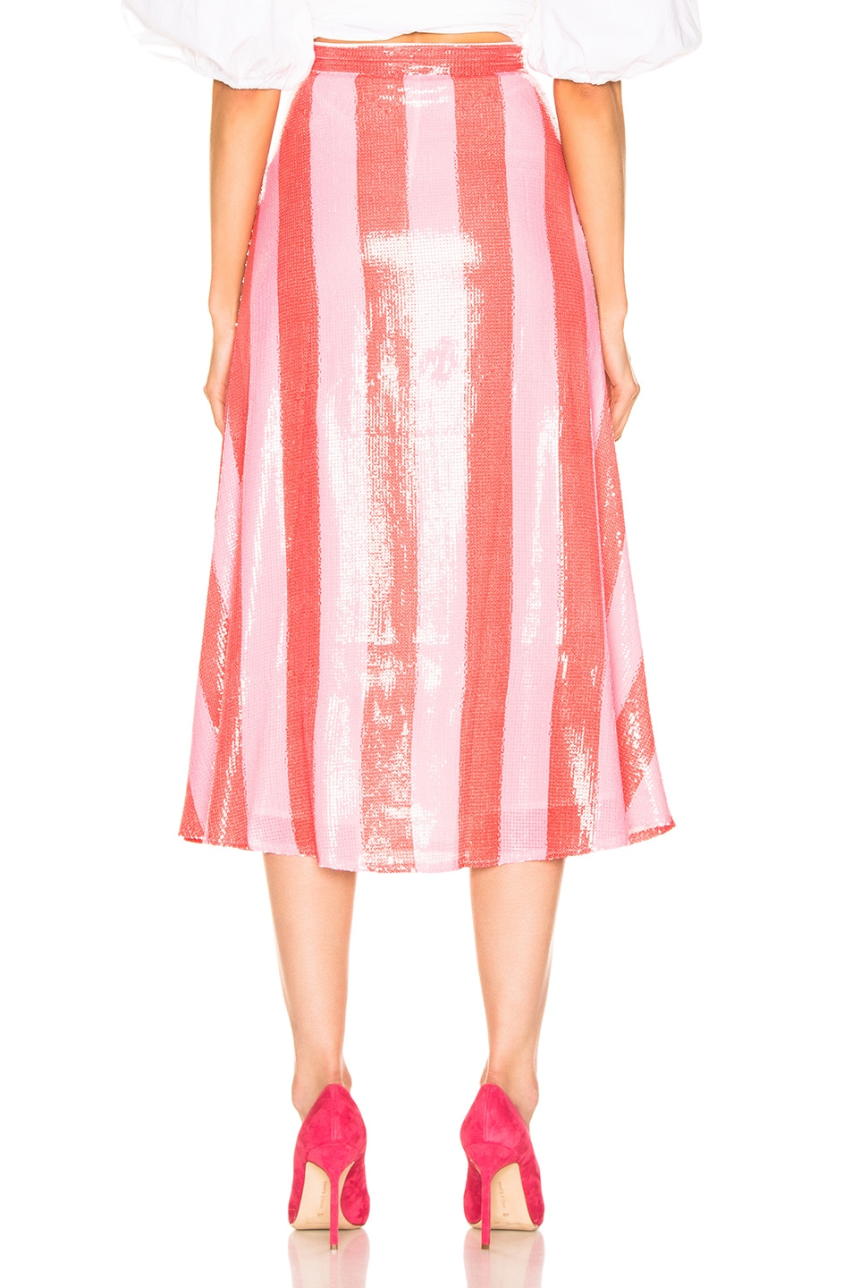 Image 3 of Olivia Rubin Penelope Skirt in Red & Pink