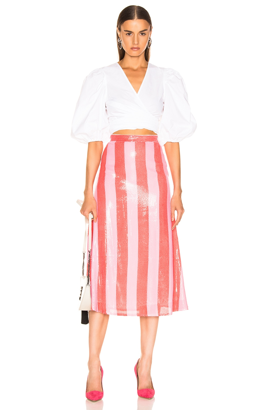 Image 4 of Olivia Rubin Penelope Skirt in Red & Pink