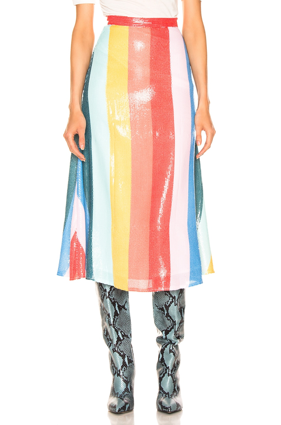 Image 1 of Olivia Rubin Rainbow Skirt in Rainbow