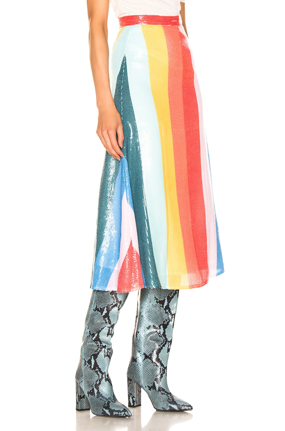 Image 2 of Olivia Rubin Rainbow Skirt in Rainbow