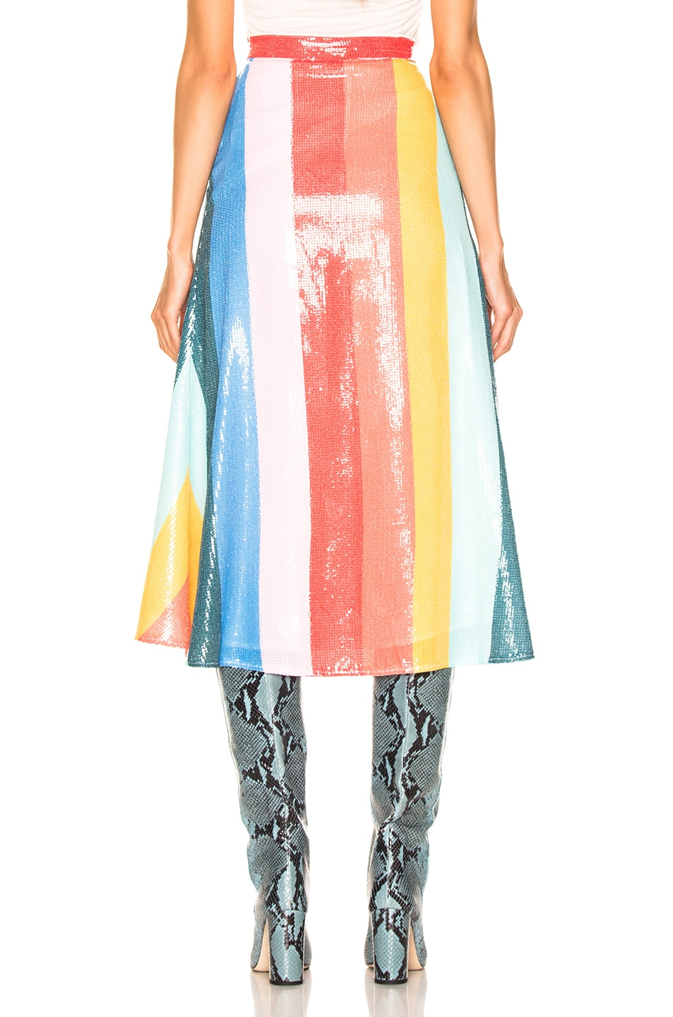 Image 3 of Olivia Rubin Rainbow Skirt in Rainbow