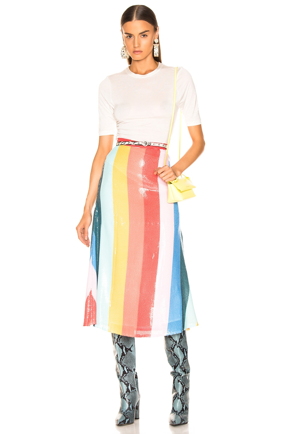 Image 4 of Olivia Rubin Rainbow Skirt in Rainbow