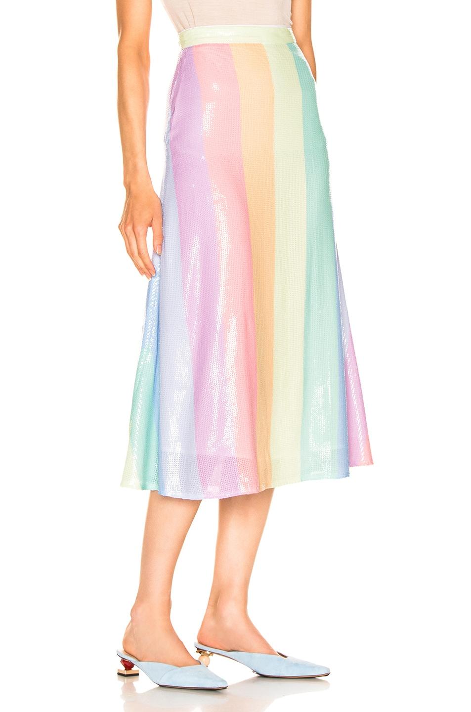 Image 2 of Olivia Rubin for FWRD Penelope Skirt in Pastel Rainbow