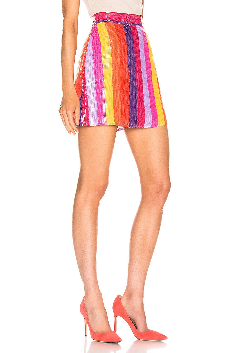 Image 2 of Olivia Rubin Libby Skirt in Rainbow Stripe