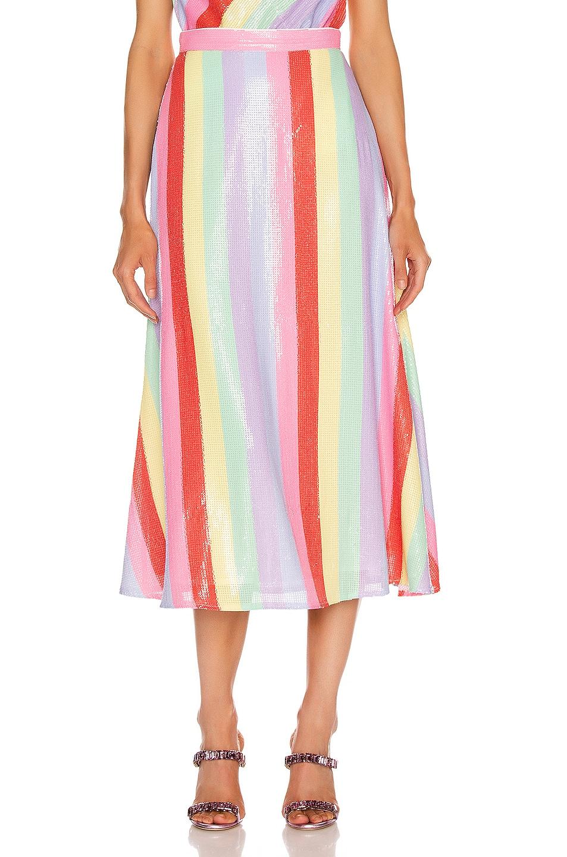 Image 1 of Olivia Rubin Penelope Skirt in Fall Stripe