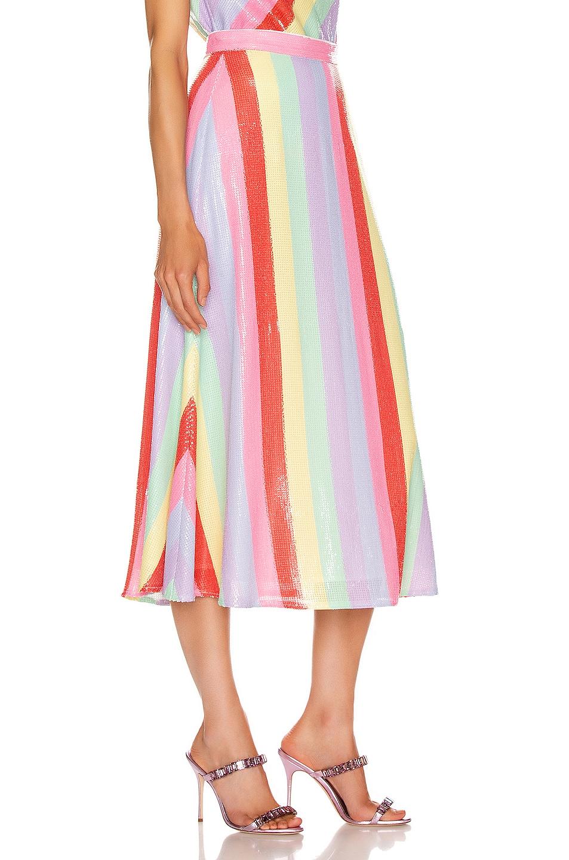 Image 2 of Olivia Rubin Penelope Skirt in Fall Stripe