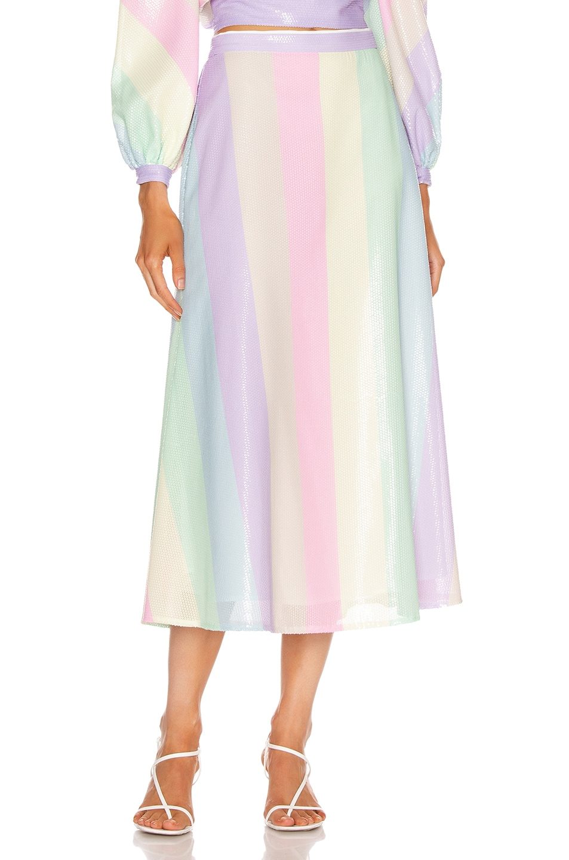 Image 1 of Olivia Rubin Penelope Skirt in Neapolitan Stripe