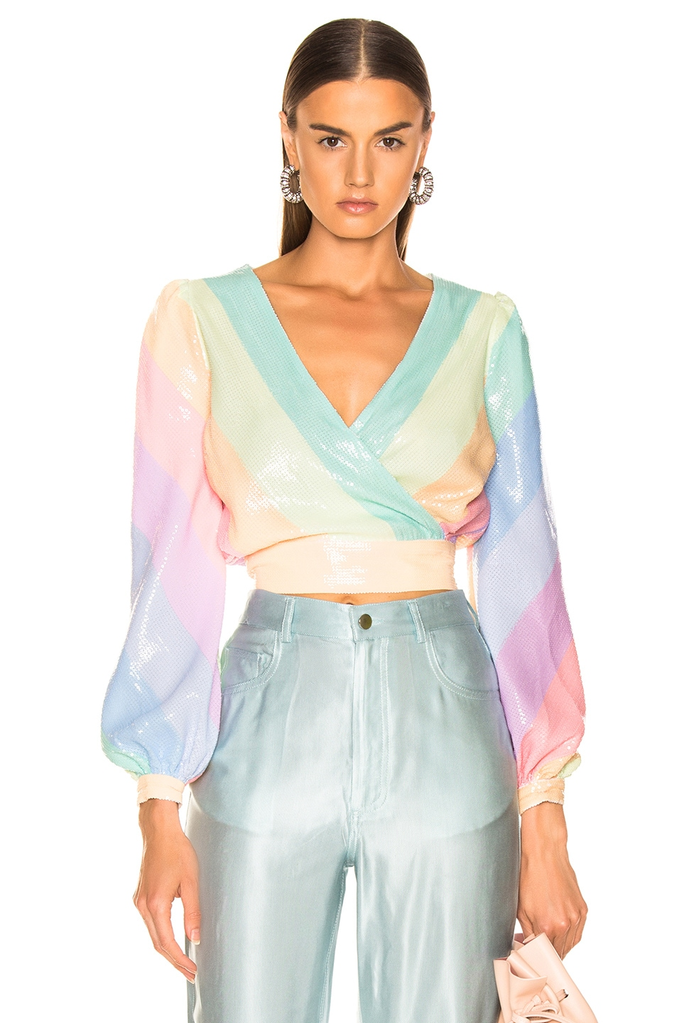 Image 1 of Olivia Rubin for FWRD Kendall Top in Pastel Rainbow