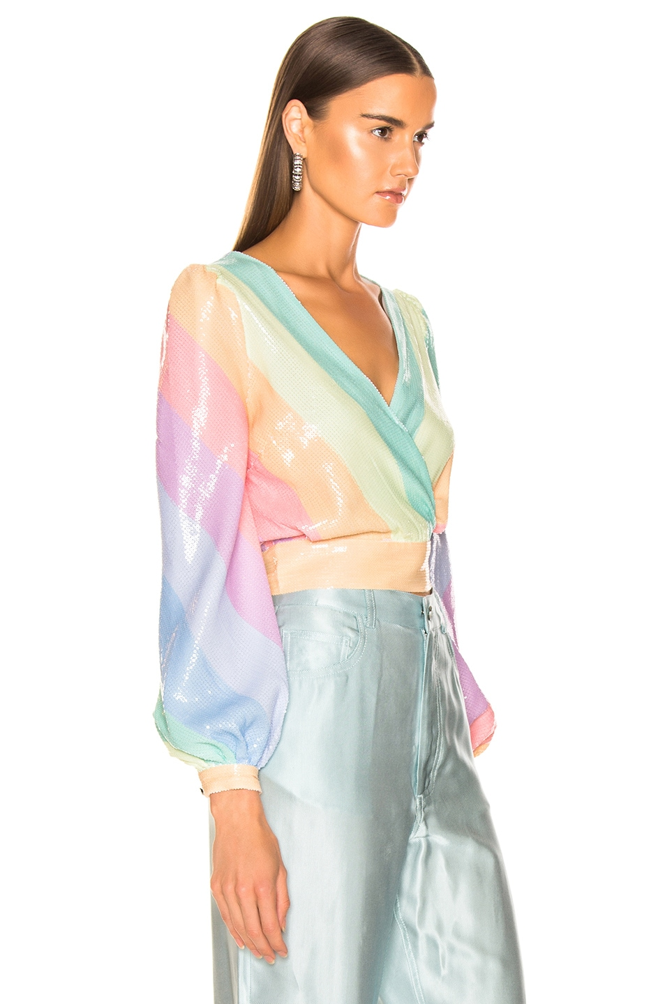 Image 2 of Olivia Rubin for FWRD Kendall Top in Pastel Rainbow