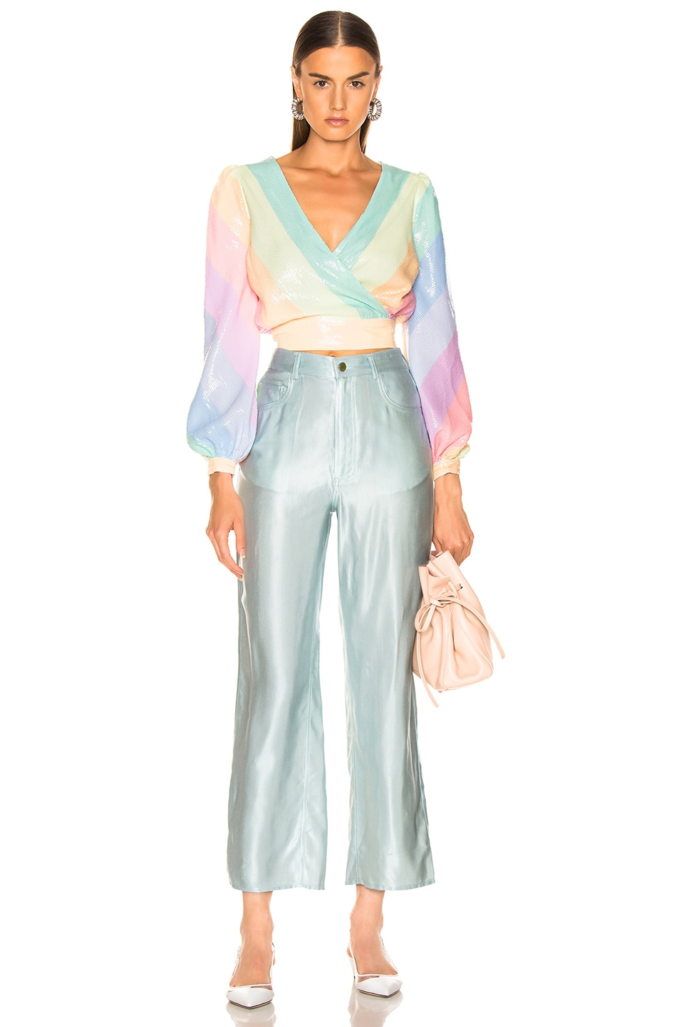 Image 4 of Olivia Rubin for FWRD Kendall Top in Pastel Rainbow