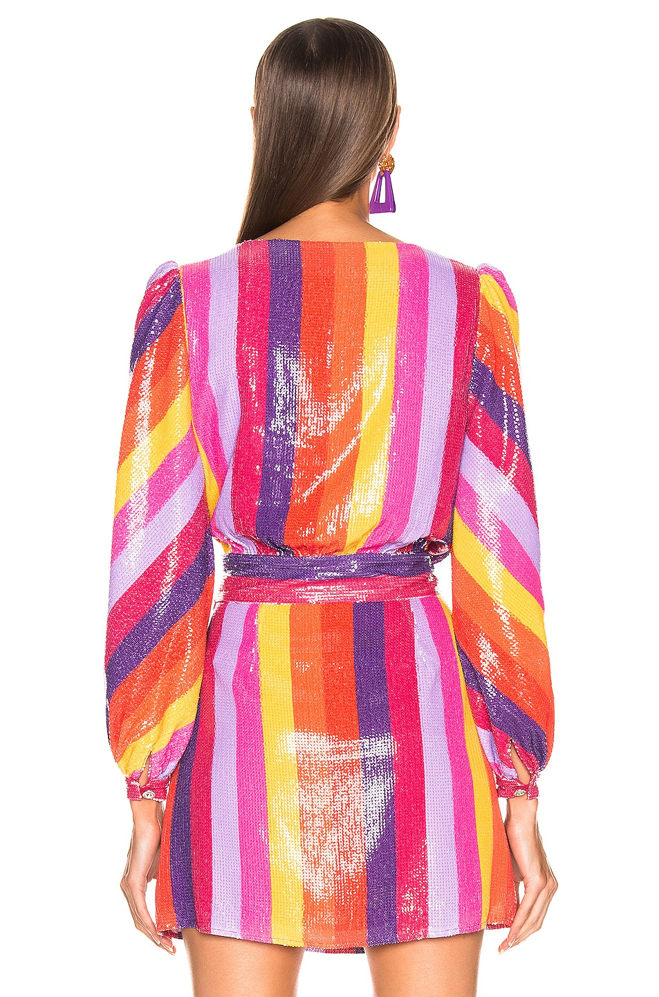 Image 3 of Olivia Rubin Kendall Top in Rainbow Stripe