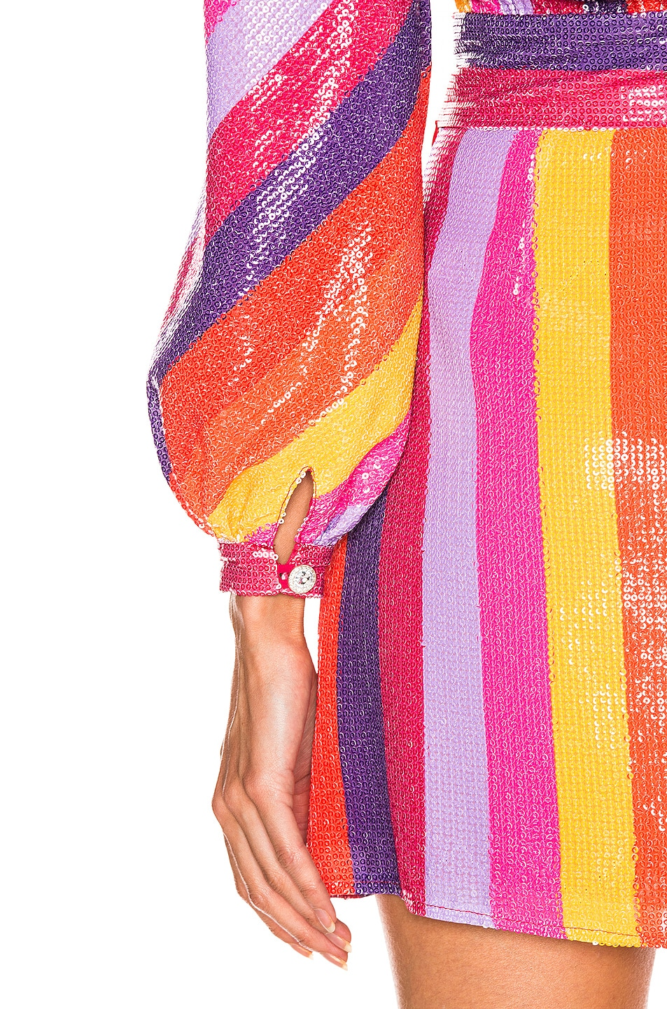 Image 5 of Olivia Rubin Kendall Top in Rainbow Stripe