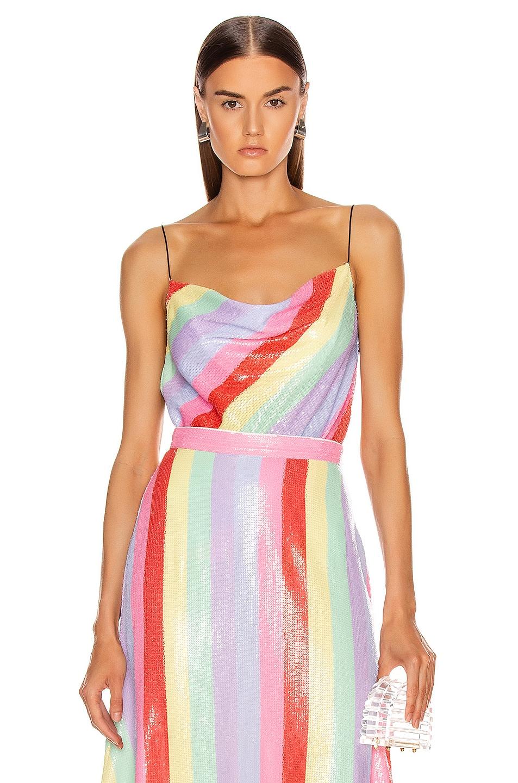 Image 1 of Olivia Rubin Clover Cami in Fall Stripe