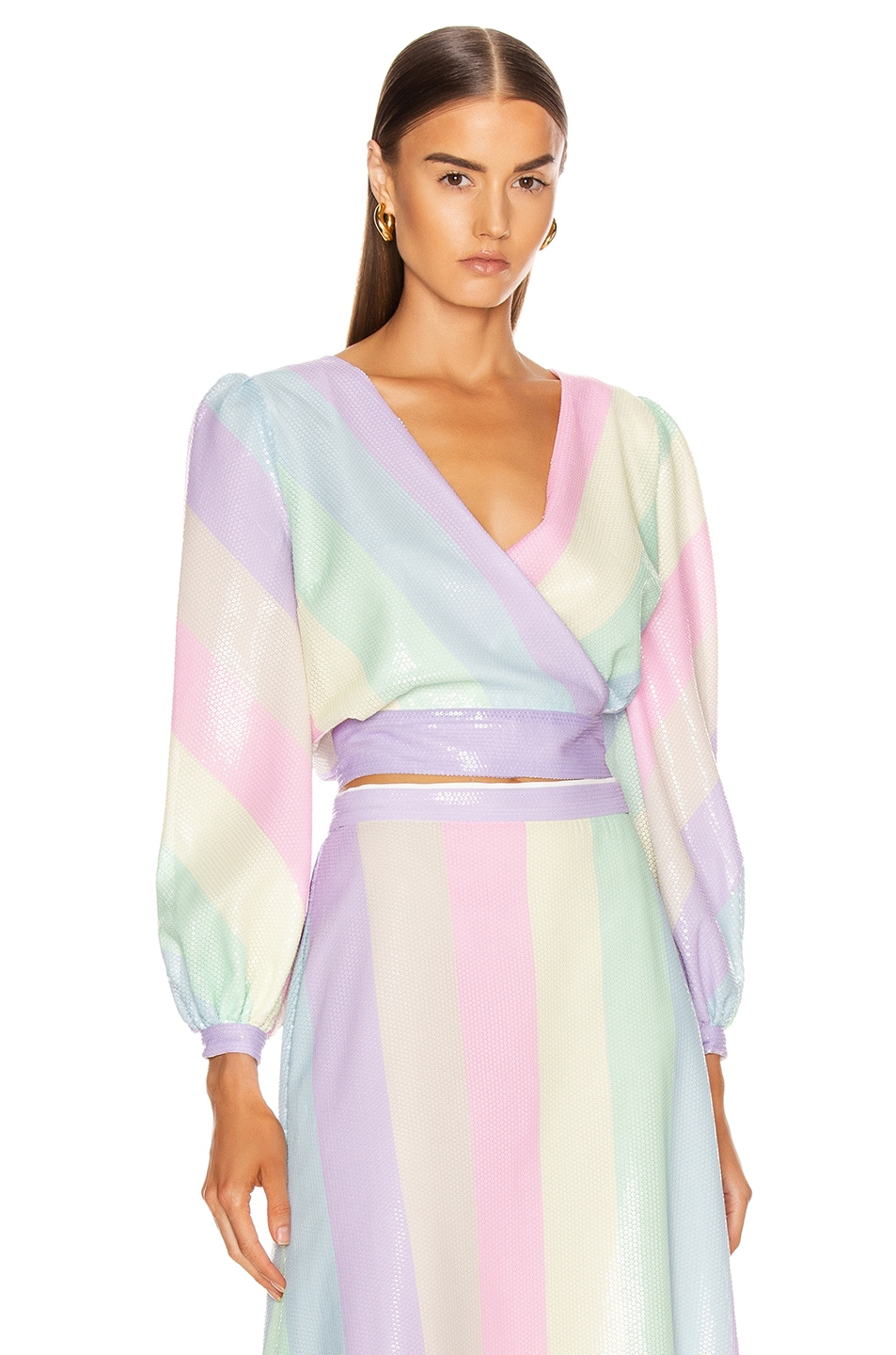 Image 1 of Olivia Rubin Kendall Top in Neapolitan Stripe