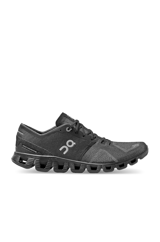 Image 1 of On Running Cloud X in Black & Asphalt