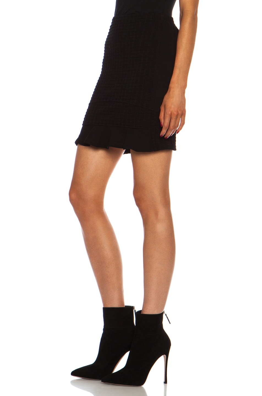 Image 2 of Opening Ceremony Snowe Insert Mini Viscose-Blend Skirt in Black