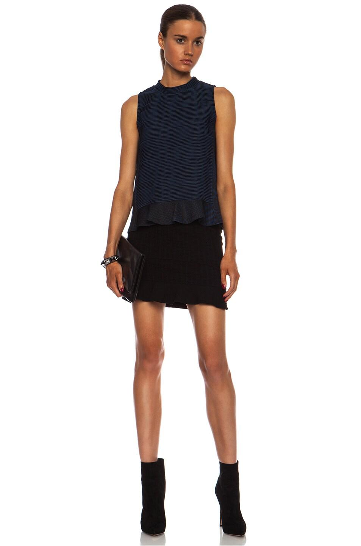 Image 5 of Opening Ceremony Snowe Insert Mini Viscose-Blend Skirt in Black