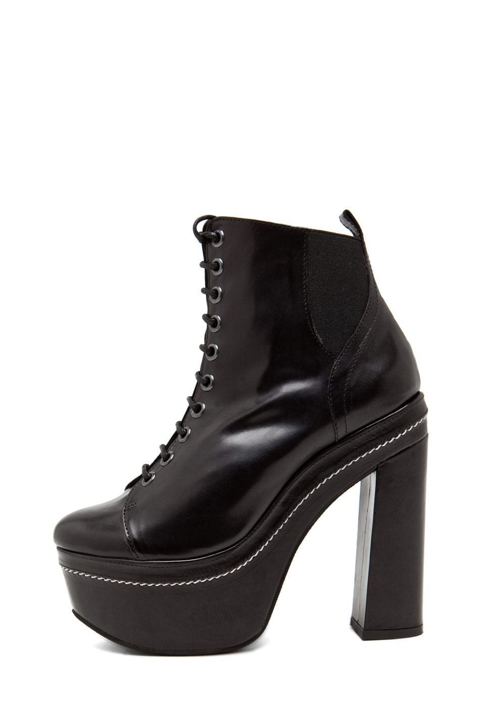 Image 1 of Opening Ceremony Bernadette Lace Up Bootie in Black