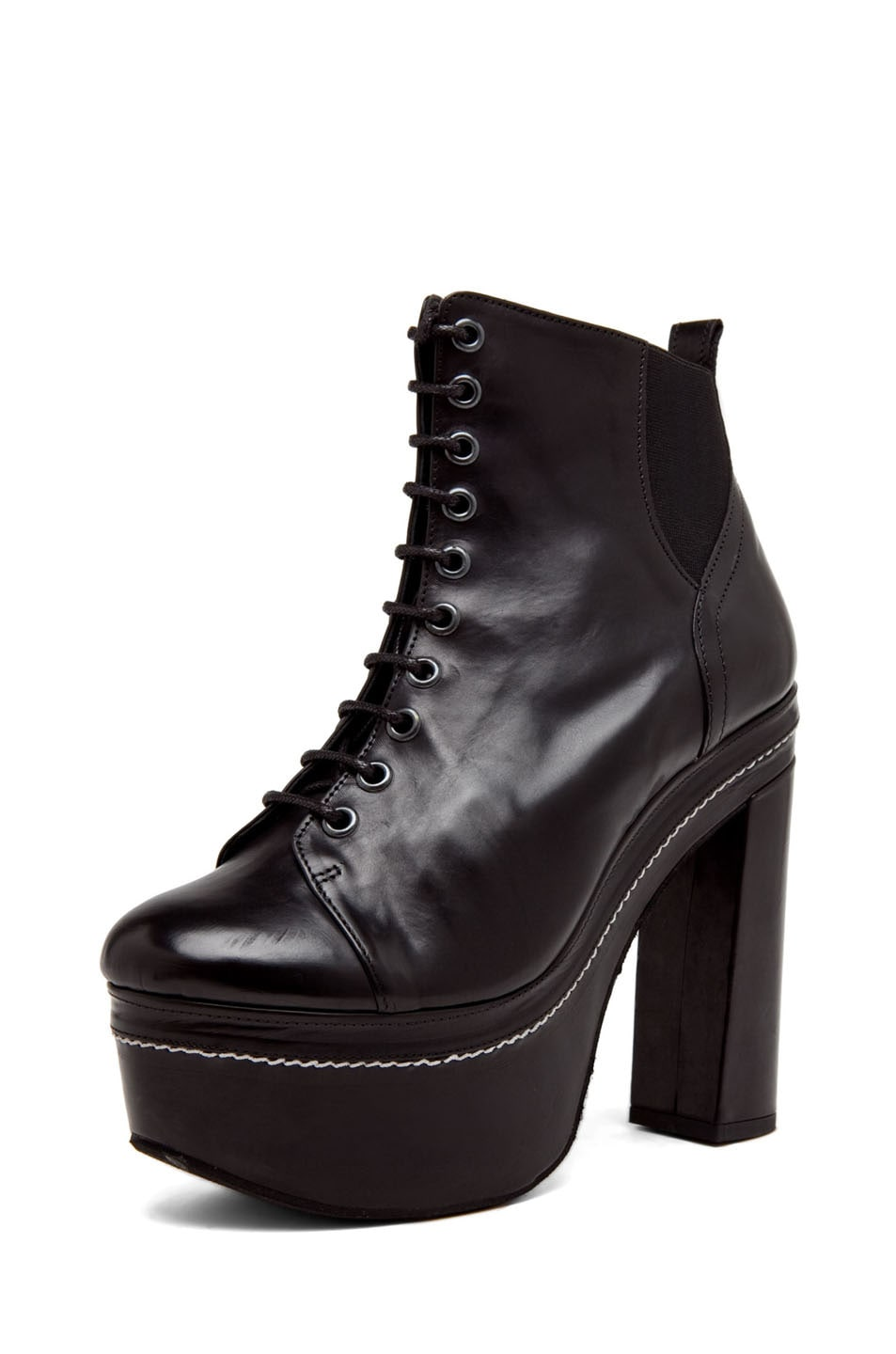 Image 2 of Opening Ceremony Bernadette Lace Up Bootie in Black