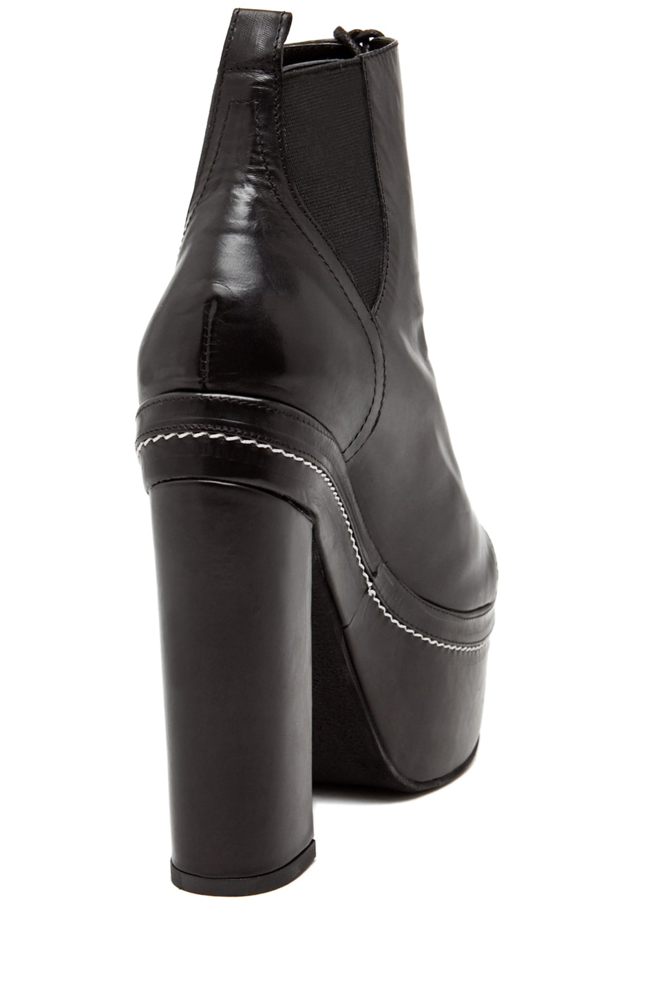 Image 3 of Opening Ceremony Bernadette Lace Up Bootie in Black