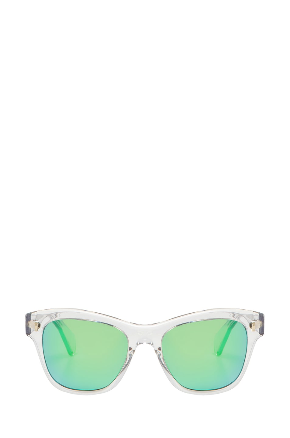 Image 1 of Oliver Peoples Sofee Mirror Sunglasses in Crystal & Green
