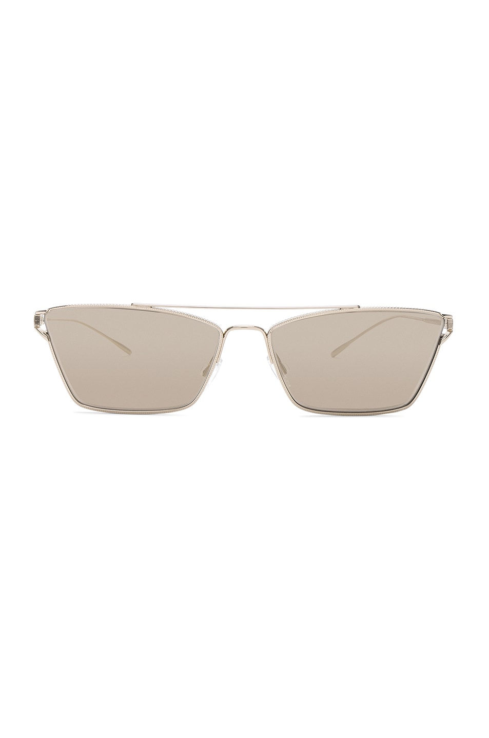 Image 1 of Oliver Peoples Evey Sunglasses in Gold & Taupe Flash Mirror