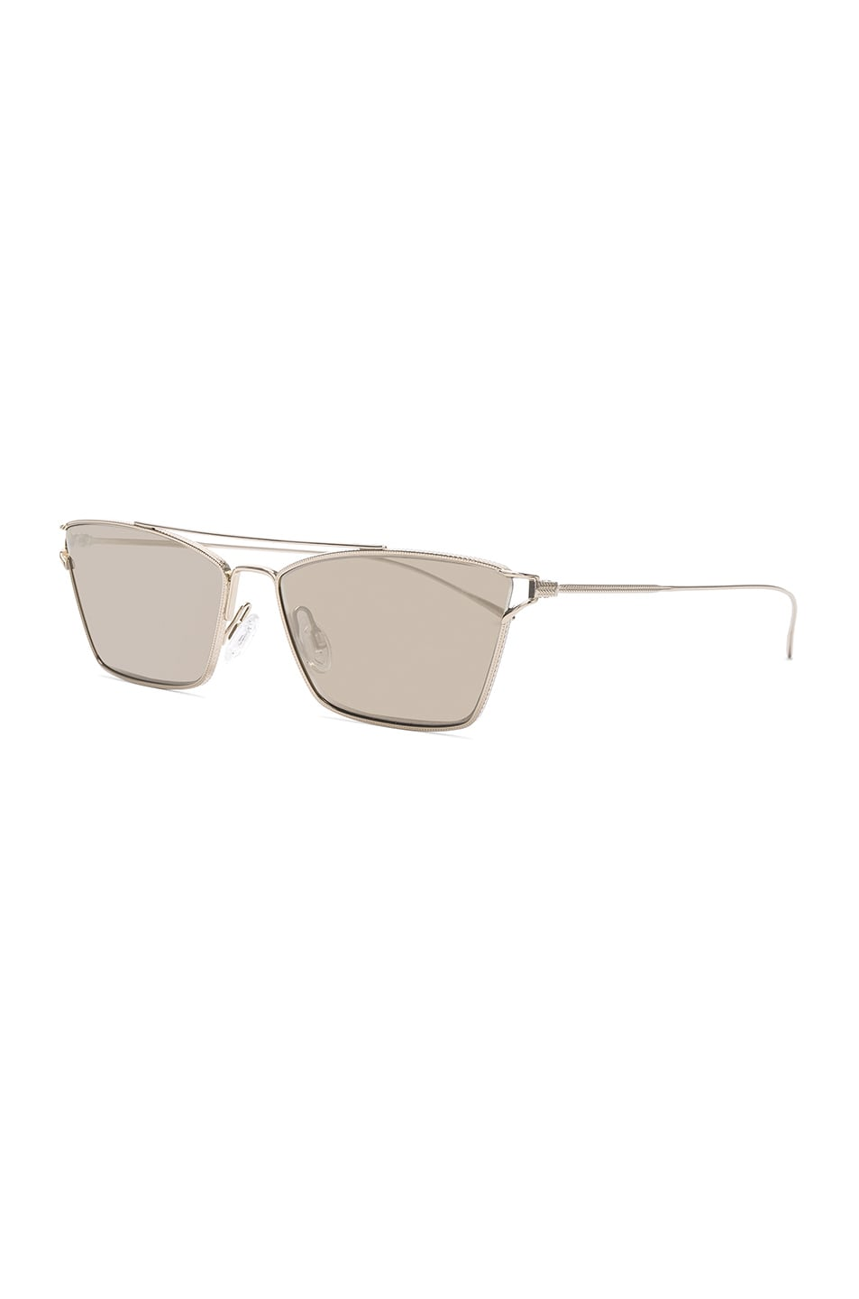Image 2 of Oliver Peoples Evey Sunglasses in Gold & Taupe Flash Mirror