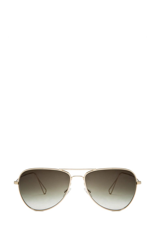 Image 1 of Oliver Peoples x Isabel Marant Matt Sunglasses in Light Gold & Olive