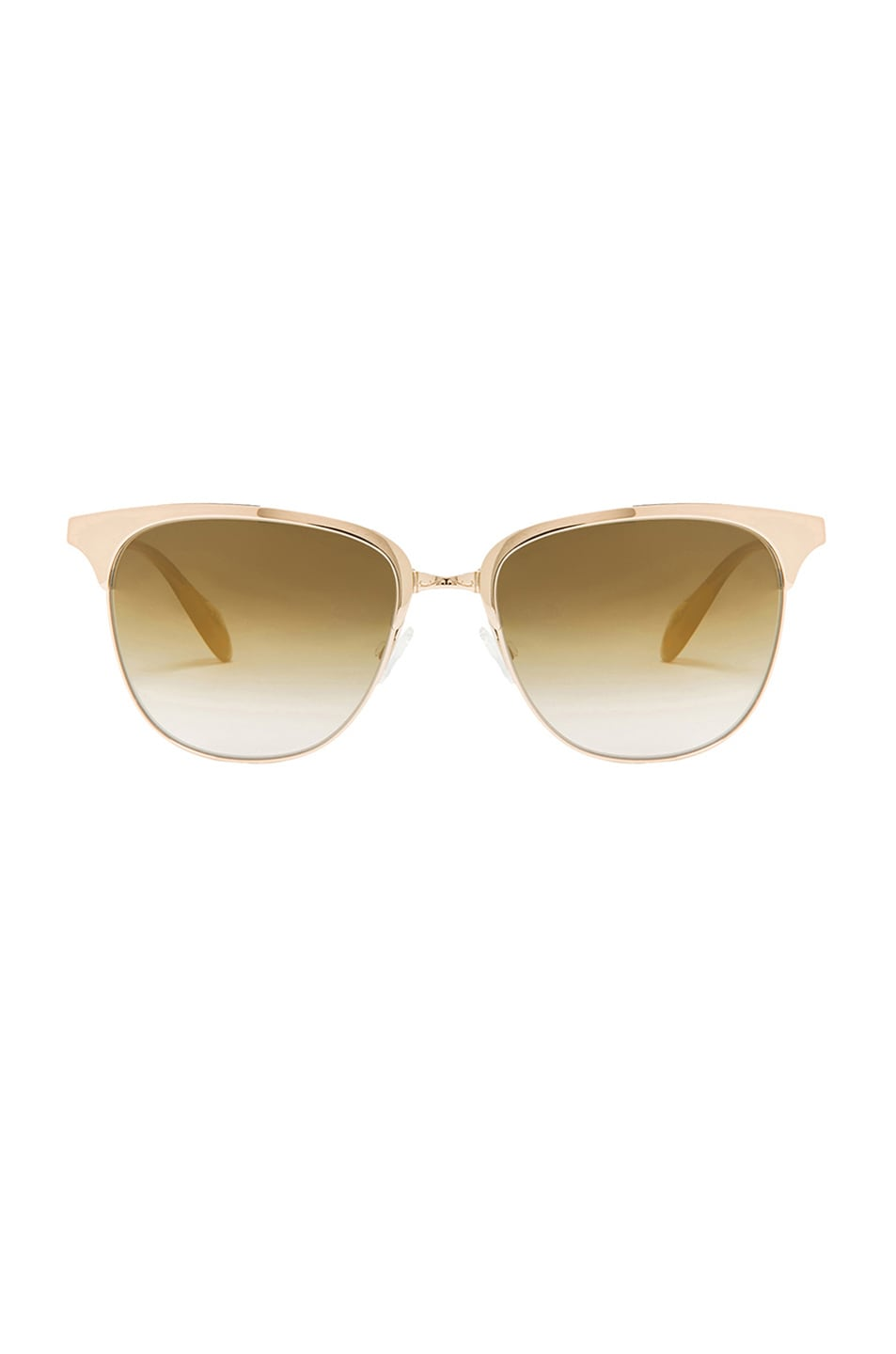 Image 1 of Oliver Peoples Leiana Flash Mirror Sunglasses in Crystal & Soft Gold