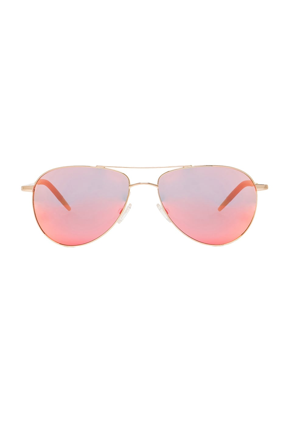 Image 1 of Oliver Peoples Custom Benedict Sunglasses in Gold & Vermillion Mirror