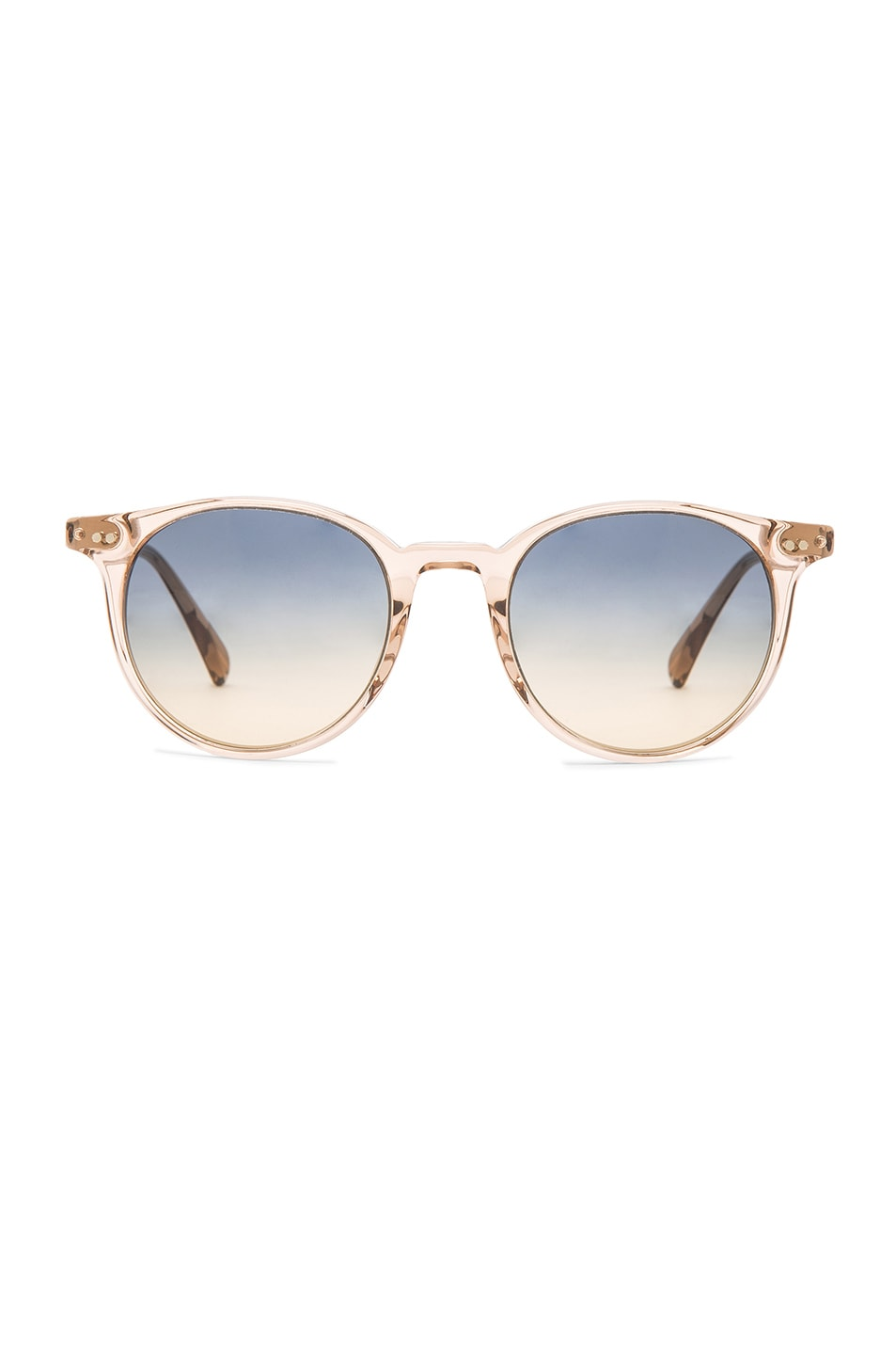 Image 1 of Oliver Peoples Custom Delray Sunglasses in Blush & Opal Dusk