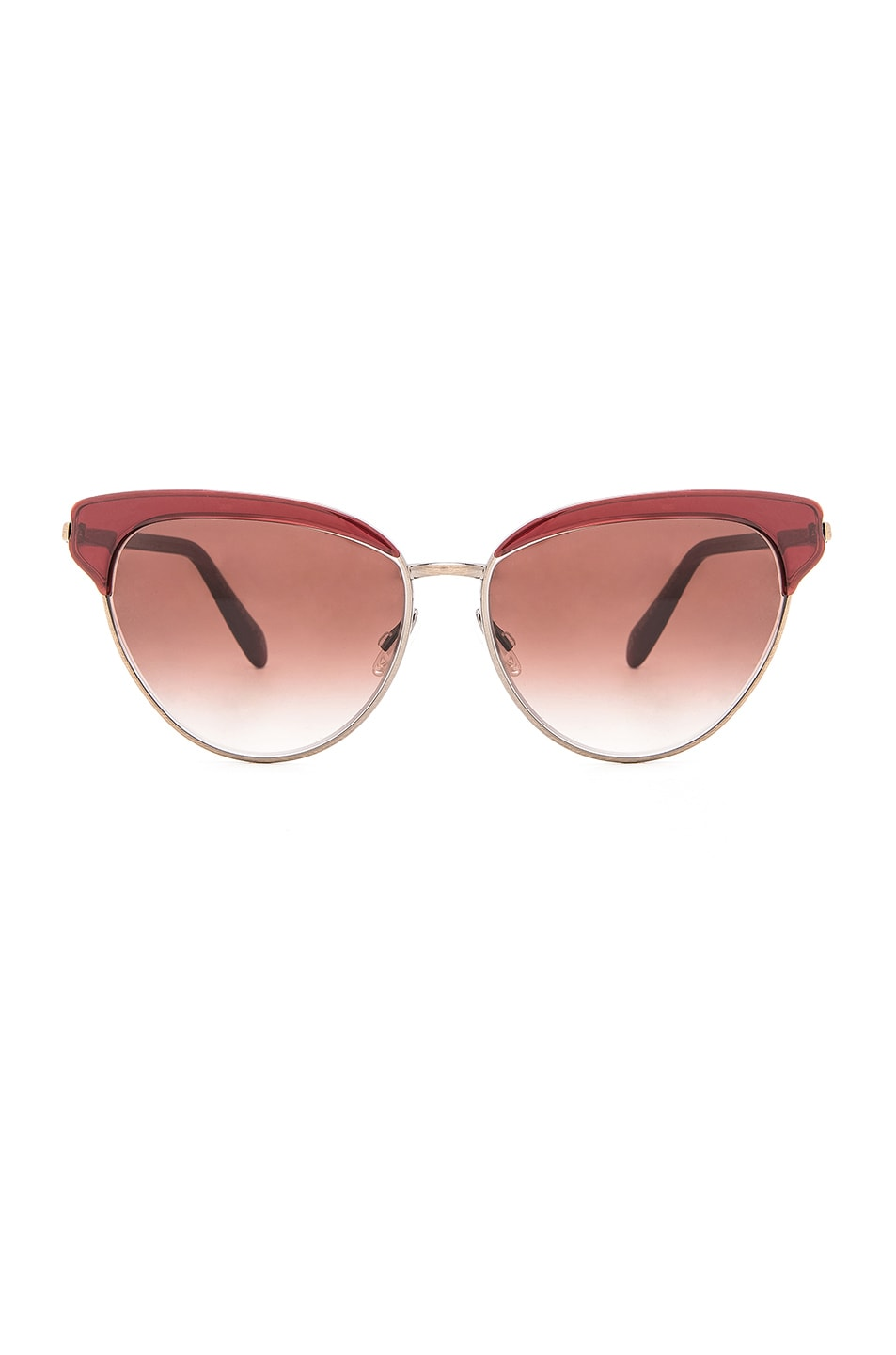 53c8968394 Image 1 of Oliver Peoples Josa Sunglasses in Ruby   Spice Brown