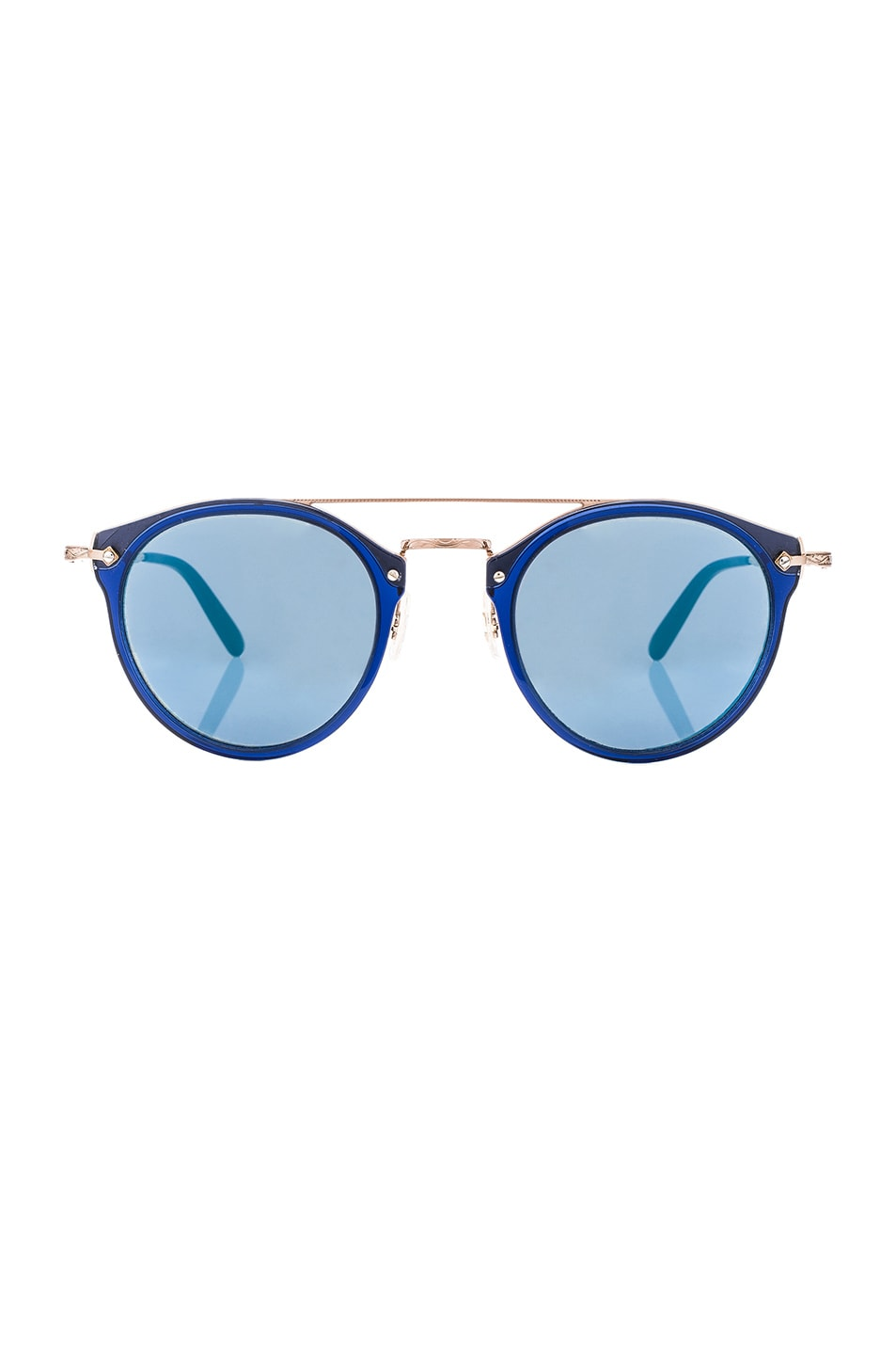 Image 1 of Oliver Peoples Remick Sunglasses in Denim & Brushed Rose Gold