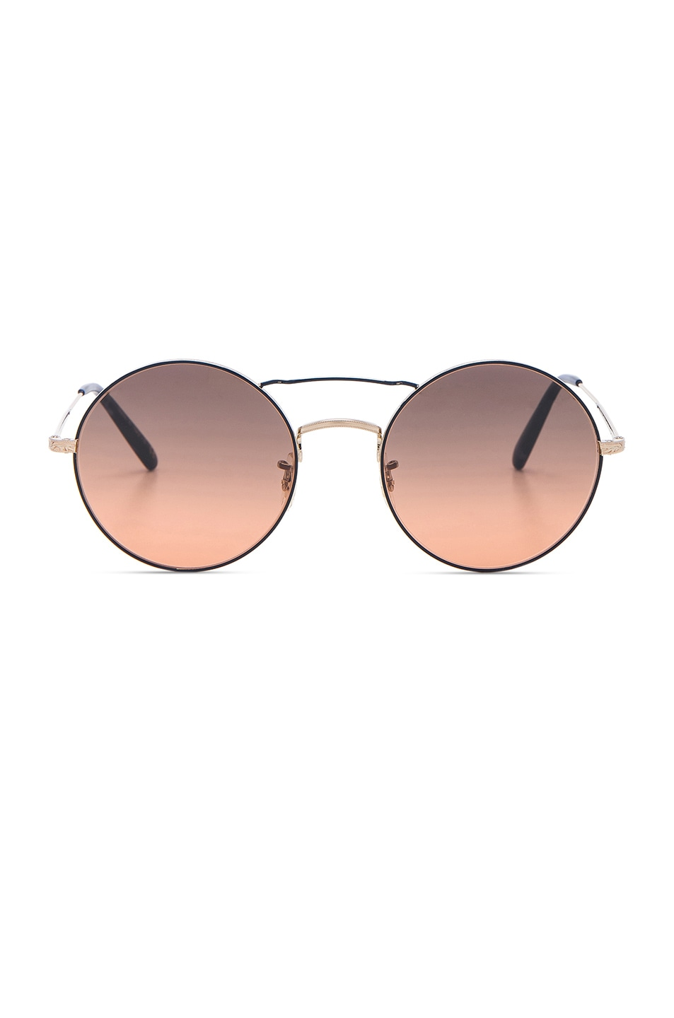Image 1 of Oliver Peoples Nickol Sunglasses in Brushed Gold & Sunset