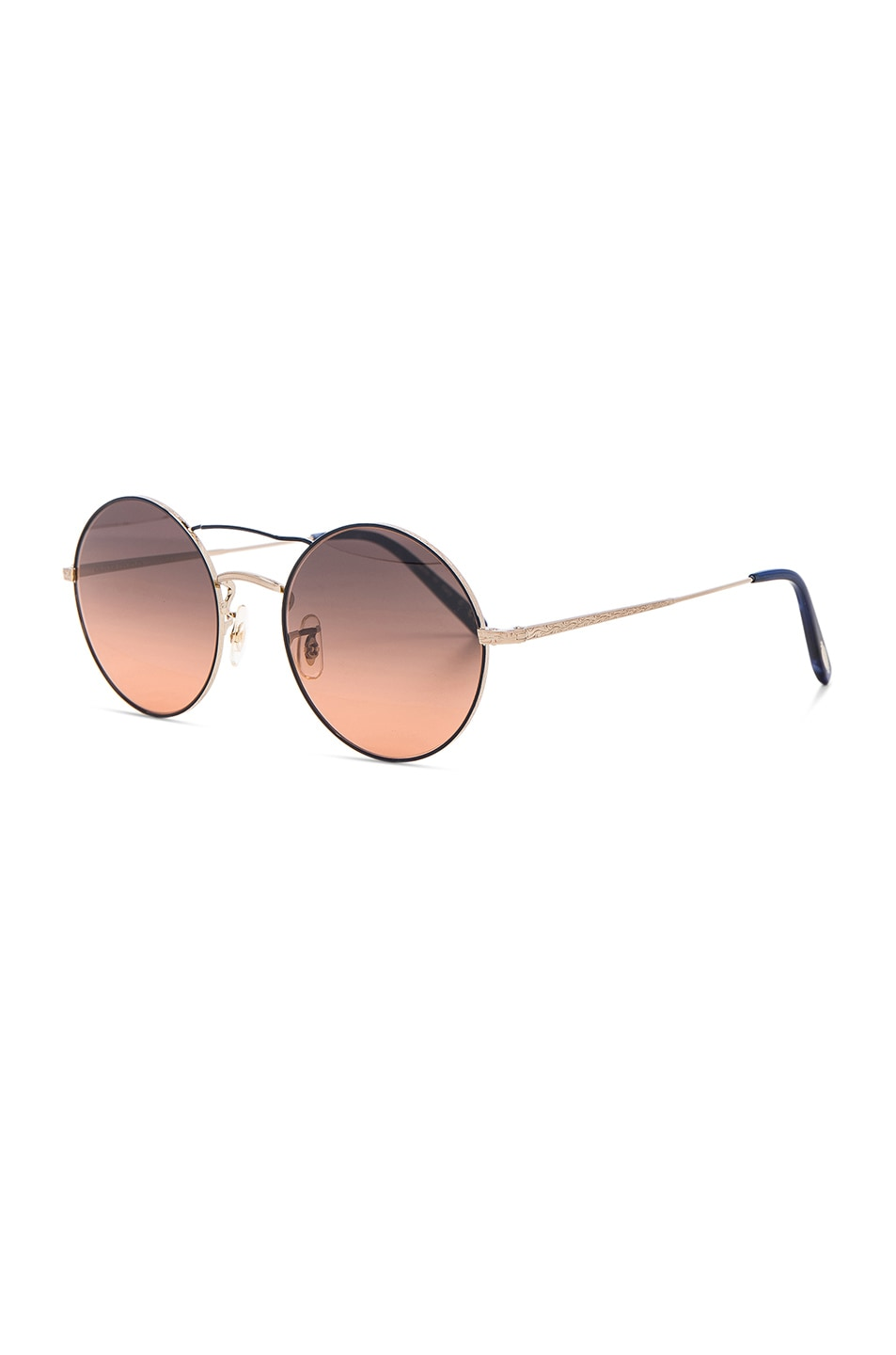 Image 2 of Oliver Peoples Nickol Sunglasses in Brushed Gold & Sunset