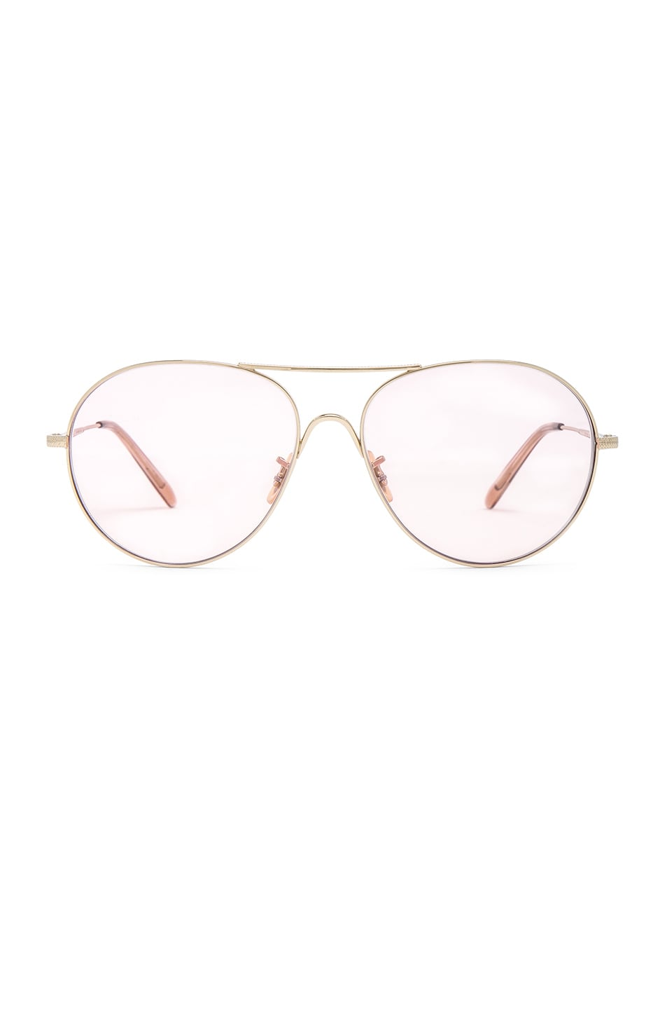 Image 1 of Oliver Peoples 30th Anniversary Rockmore in Gold & Pink