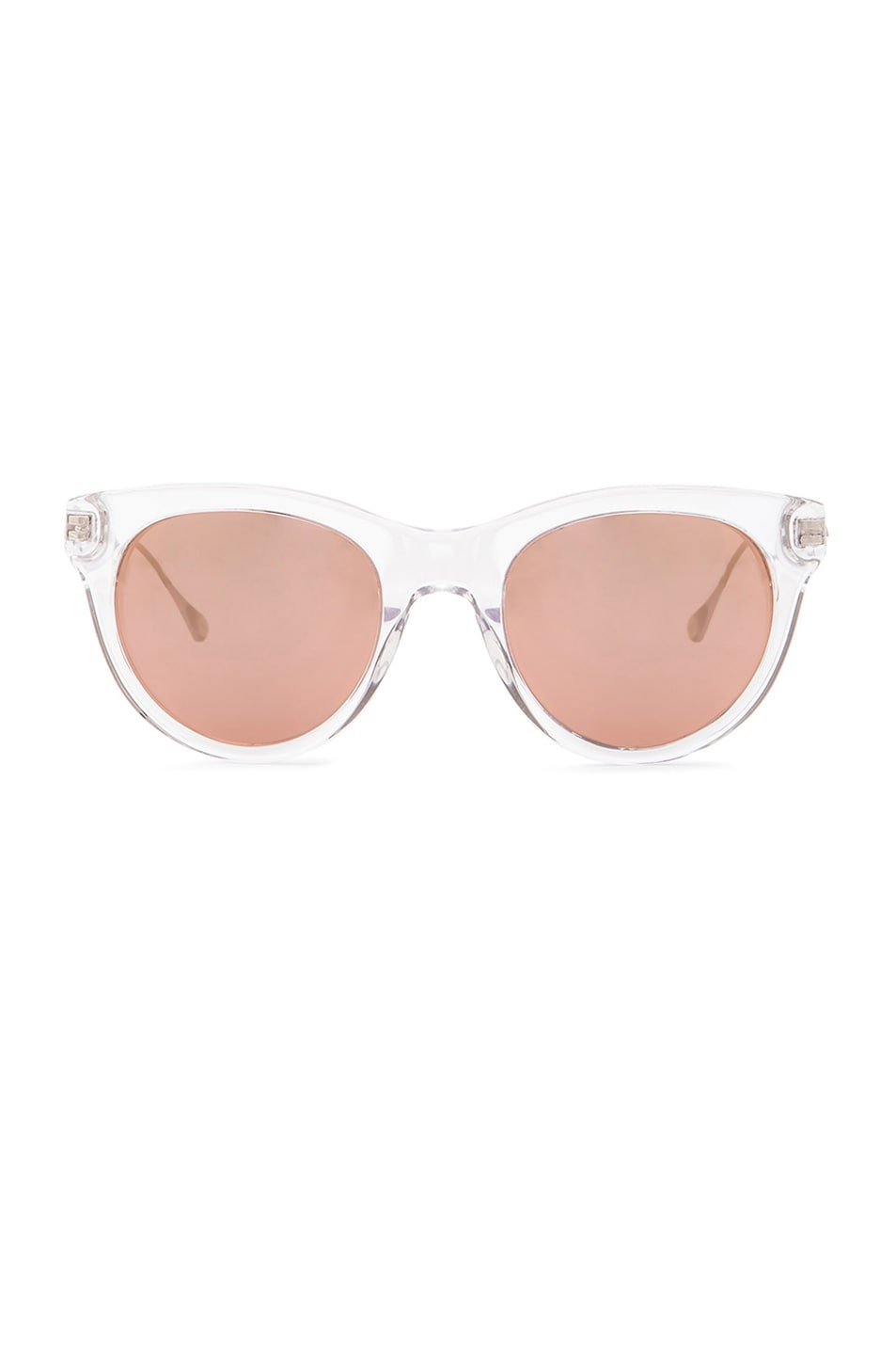 Image 1 of Oliver Peoples WEST Custom Latigo Sunglasses in Crystal & Lilac Mirror