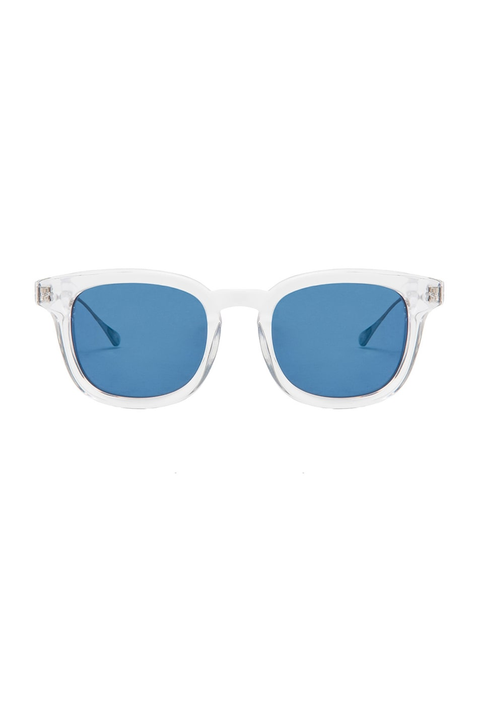 ac37dea216 Image 1 of Oliver Peoples WEST Cabrillo Polarized Sunglasses in Crystal    Malibu Mirror