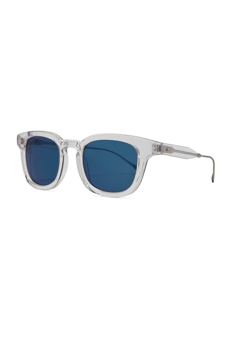 Image 2 of Oliver Peoples WEST Cabrillo Polarized Sunglasses in Crystal & Malibu Mirror